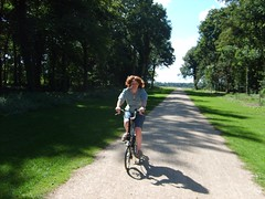 Lucy on the Brompton