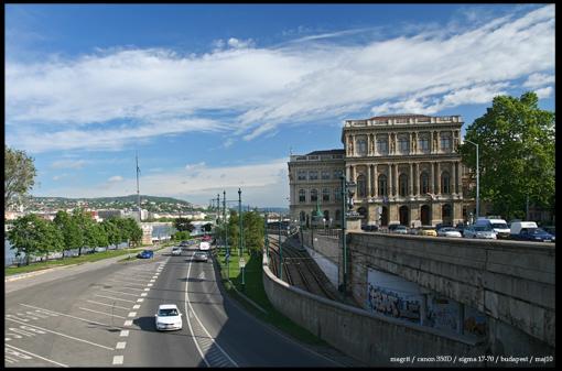 Budapest - view form Chain bridge on Pesta