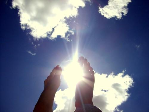 Pėda - saulė