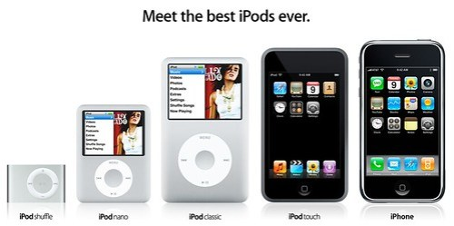 iPod, iPod Touch, iPhone