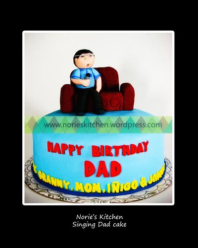 Norie's Kitchen - Karaoke Singing Dad Cake