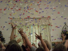 Kids Reach For Confetti