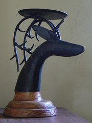 Deerhead Candle Holder from Quiapo