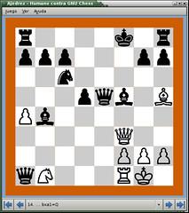 Pantallazo-Ajedrez - Humano contra GNU Chess 2D