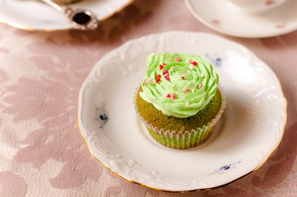 Pandan cupcakes