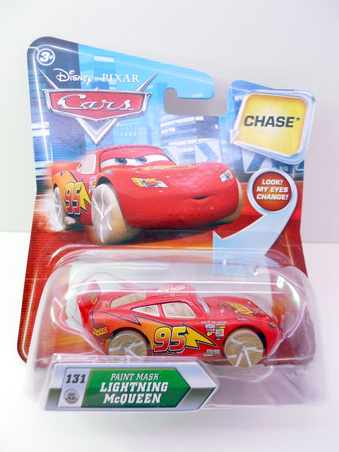 DISNEY CARS KMART COLLECTOR DAY 5 CHASE PAINT MASK LIGHTNG MCQUEEN   (1)
