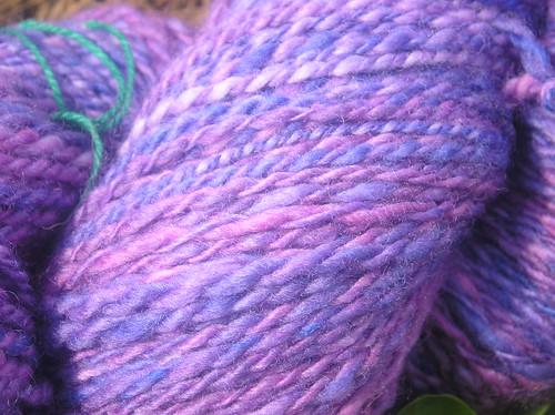 Purple handspun