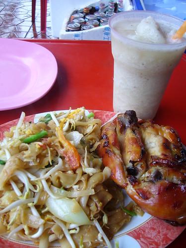Pad Thai, Chicken, Banana Shake