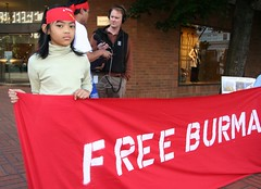 Free Myanmar (Burma) Protest, Portland, OR Mon...