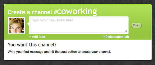 Jaiku | Create a Channel