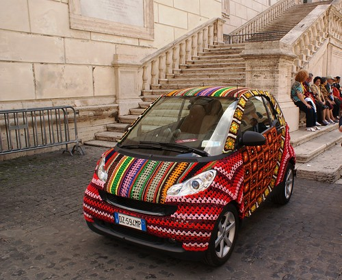 Crocheted Smart Car by StartTheDay.