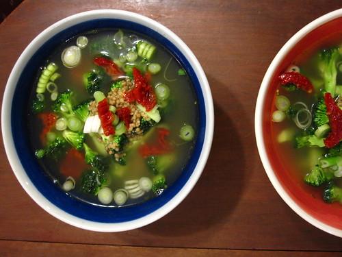 broccoli and couscous soup