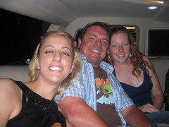 Carolyn Shelby, Chris Boggs, Rhea in the limo - SES San Jose 2007