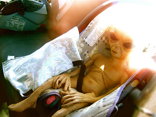 Baby Alien in Car Seat