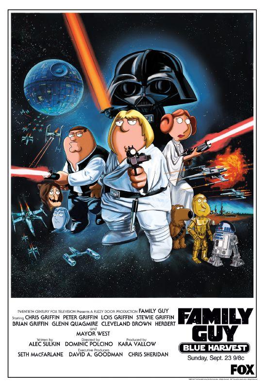 Poster padre de familia star wars