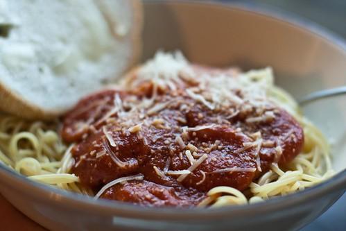 131/365 Jim's spaghetti sauce