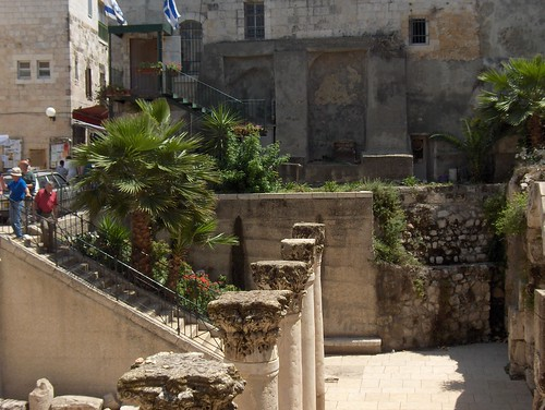 Steps down to the Historical Cardo