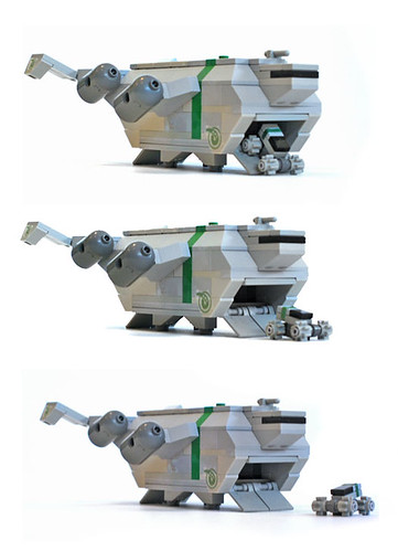 LEGO microscale dropship by nnenn