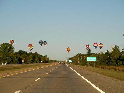 Balloons over the highway