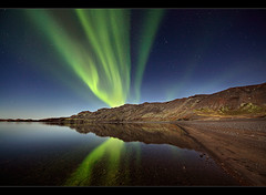 Cold and Still - Aurora at Kleifarvatn, Iceland by orvaratli