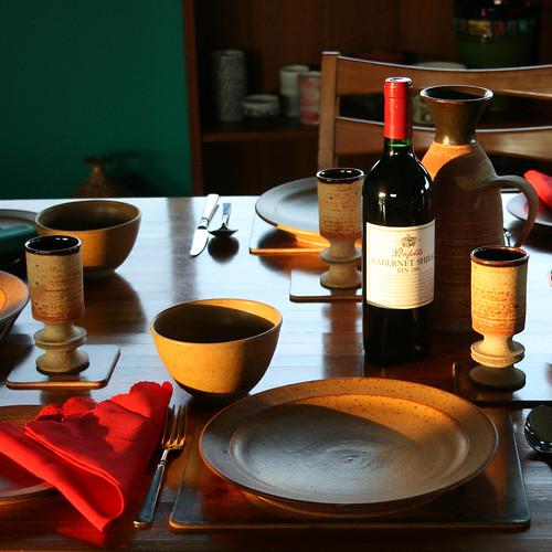 Victor Greenaway, Plate, bowl, goblet, carafe