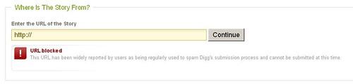Digg blocks domains