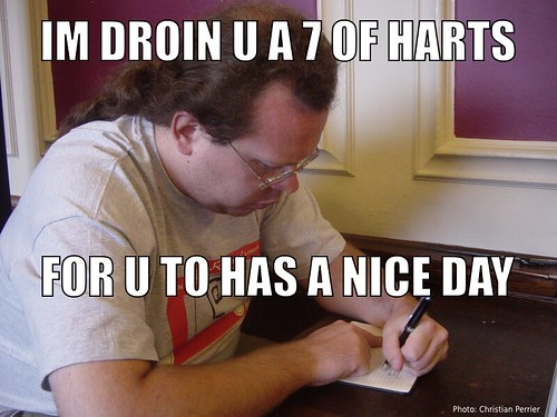 Im droin u a 7 of harts for u to has a nice day