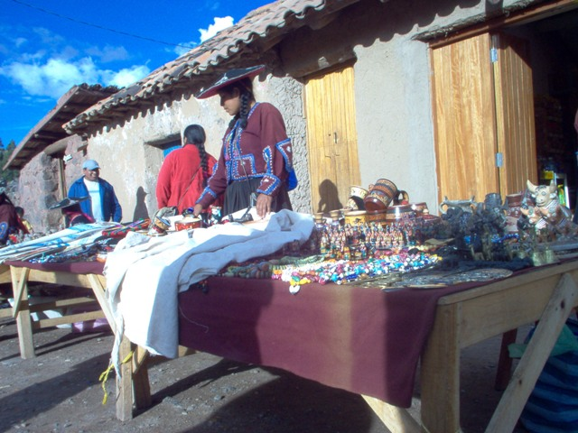 A Sicuani woman sells her goods.