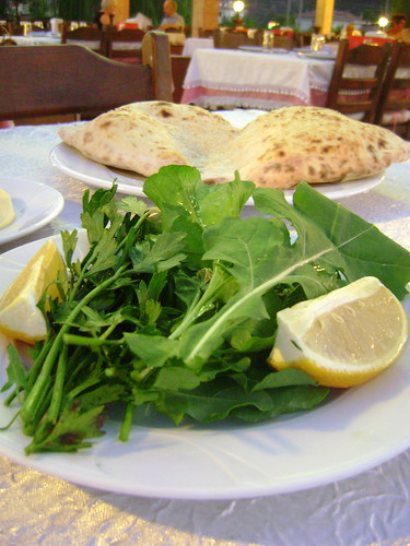 Bread with Rocket and Parsley