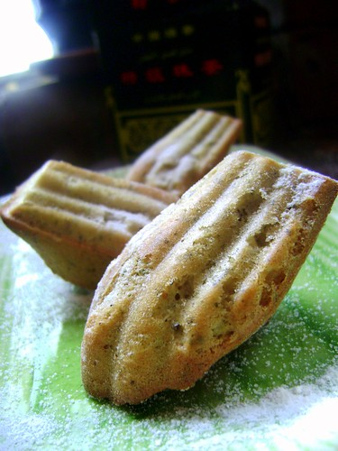 Green Tea and Cardamom Madeleines