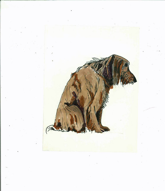 Dog, colored with copic ciaos