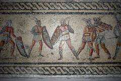 Roman Gladiators Mosaic, Libya