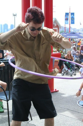 Adam Hula Hooping!  :)