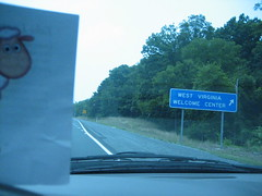 Loopy on his way to the WV welcome center