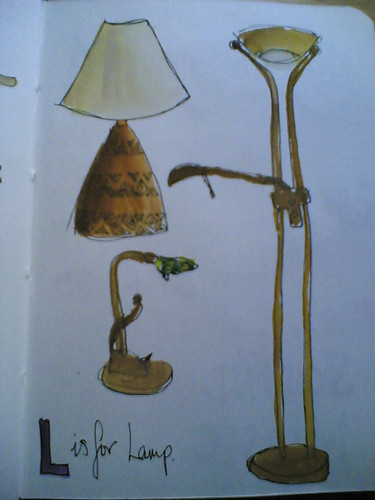 L is for lamp