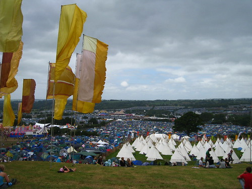 View over Glastonbury (madness not pictured)