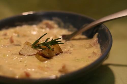 Roasted Rosemary Potato Leek Soup