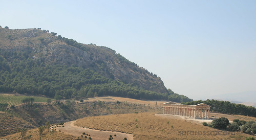 Segesta Temple in Sicily - From the town