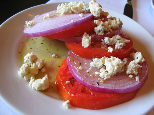 Tomato Onion Salad with Blue Cheese