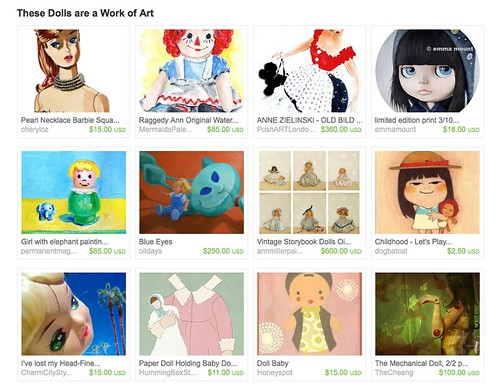 these dolls work of art etsy treasury