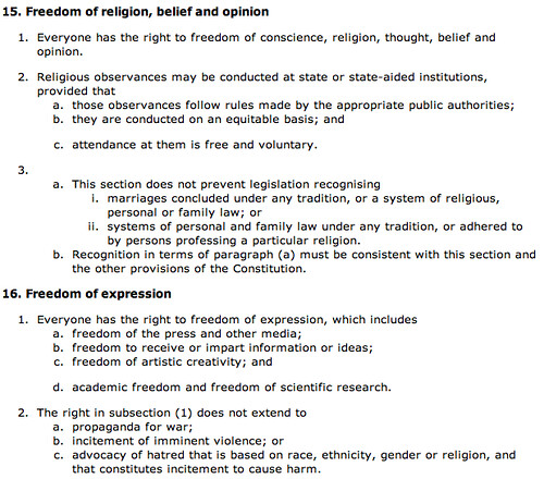 Rights - opinion and expression