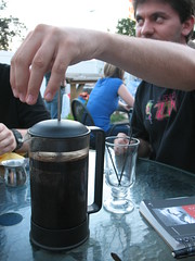 chris using a Coffee Press (brought to you by WordPress)