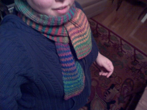 scarf and my mouth
