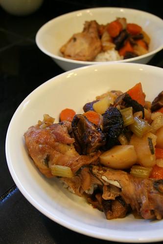 Korean braised chicken for lunch