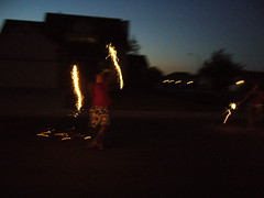 Jim doing the Fire Dance
