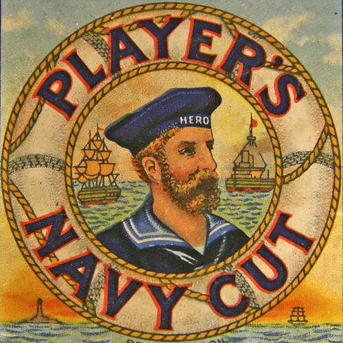 PLAYER'S NAVY CUT cigarette packet