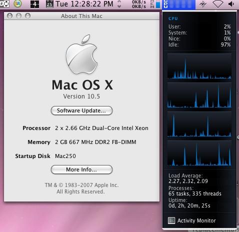 2 x 2.66 Ghz Dual-Core Intel Xeon Mac Pro