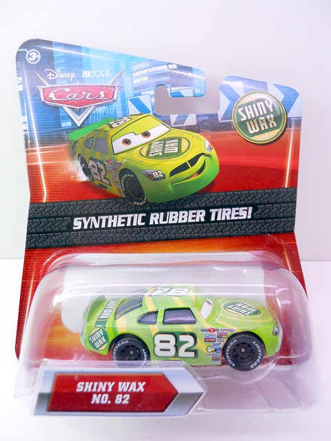 DISNEY CARS KMART COLLECTOR DAY 5  SHINY WAX RACER (1)