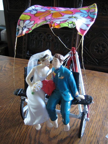 Wedding cake topper at home by affinity1.