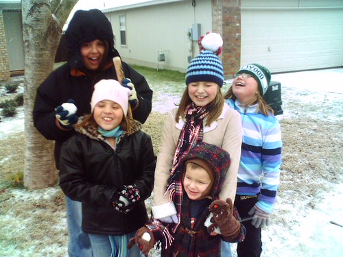 Snow is for playing with friends and smacking family upside the head.